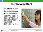 our newsletters