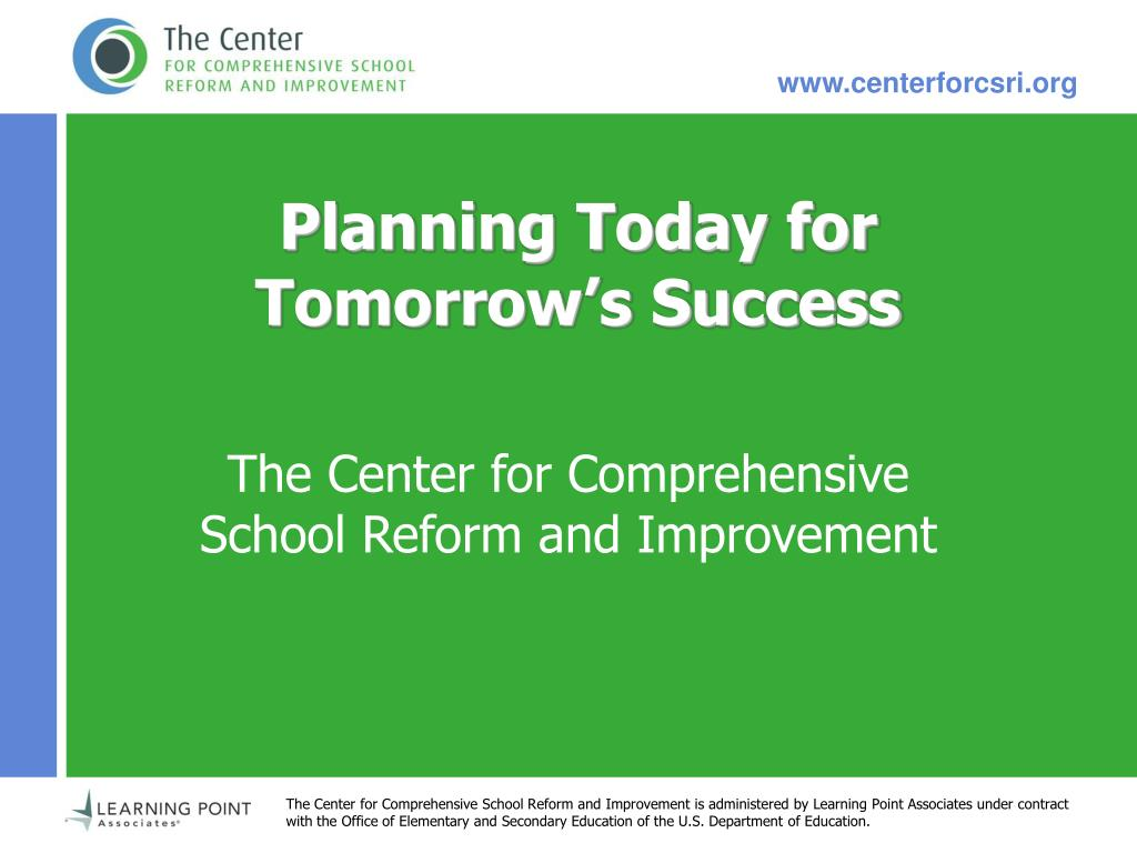 Planning Today for Tomorrow's Success