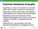 technical assistance examples