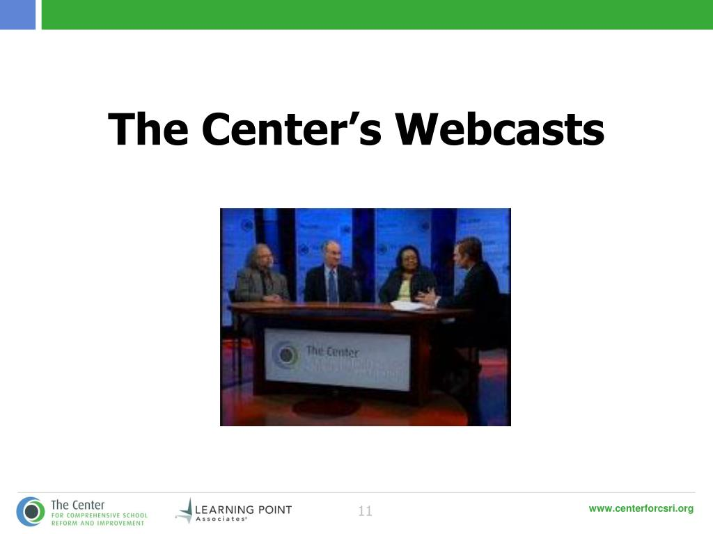The Center's Webcasts