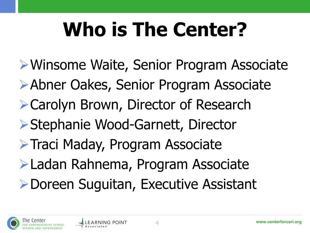 Who is The Center?