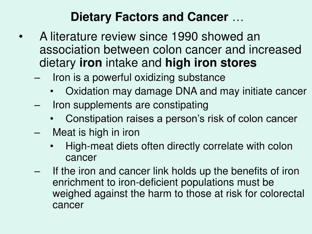 Dietary Factors and Cancer