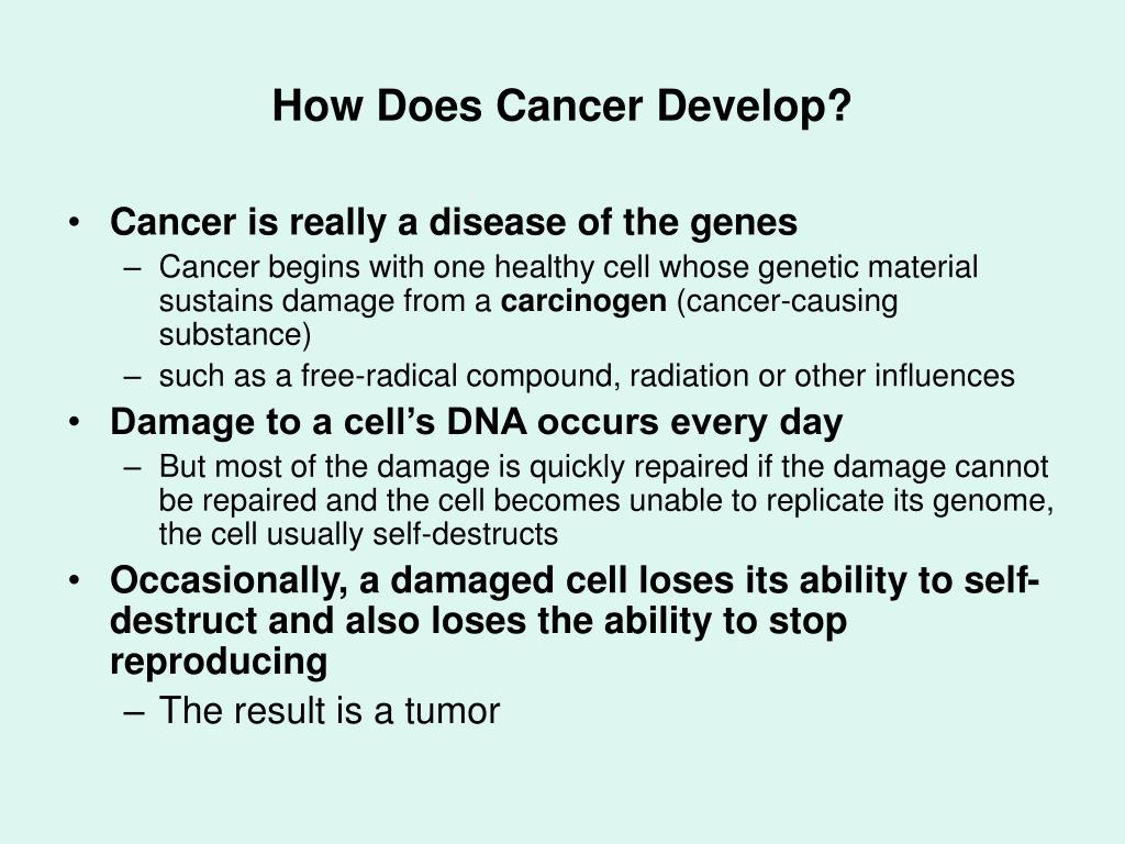 How Does Cancer Develop?