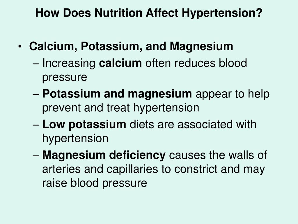 How Does Nutrition Affect Hypertension?