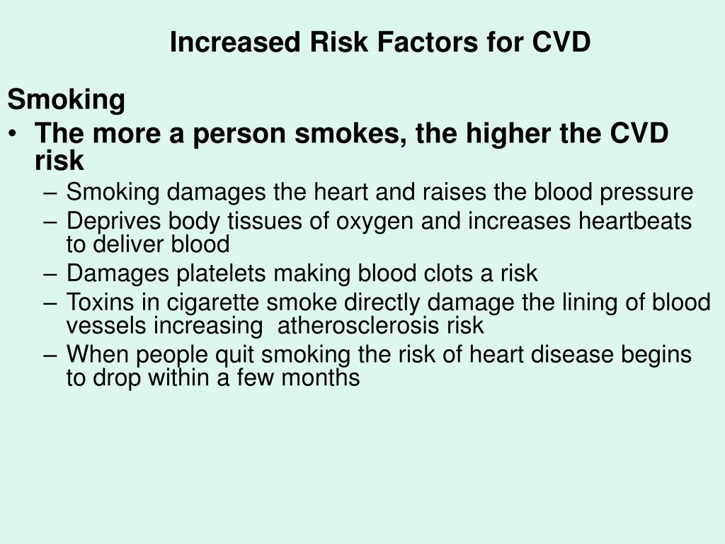 Increased Risk Factors for CVD