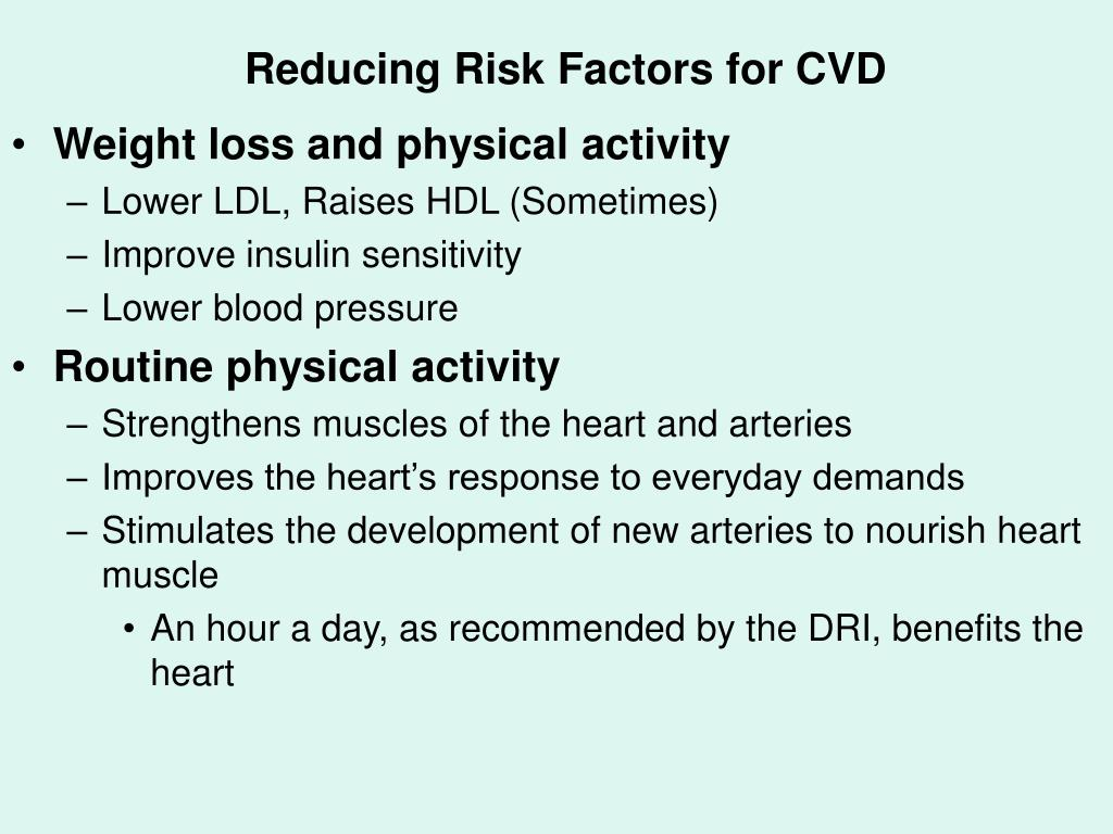 Reducing Risk Factors for CVD