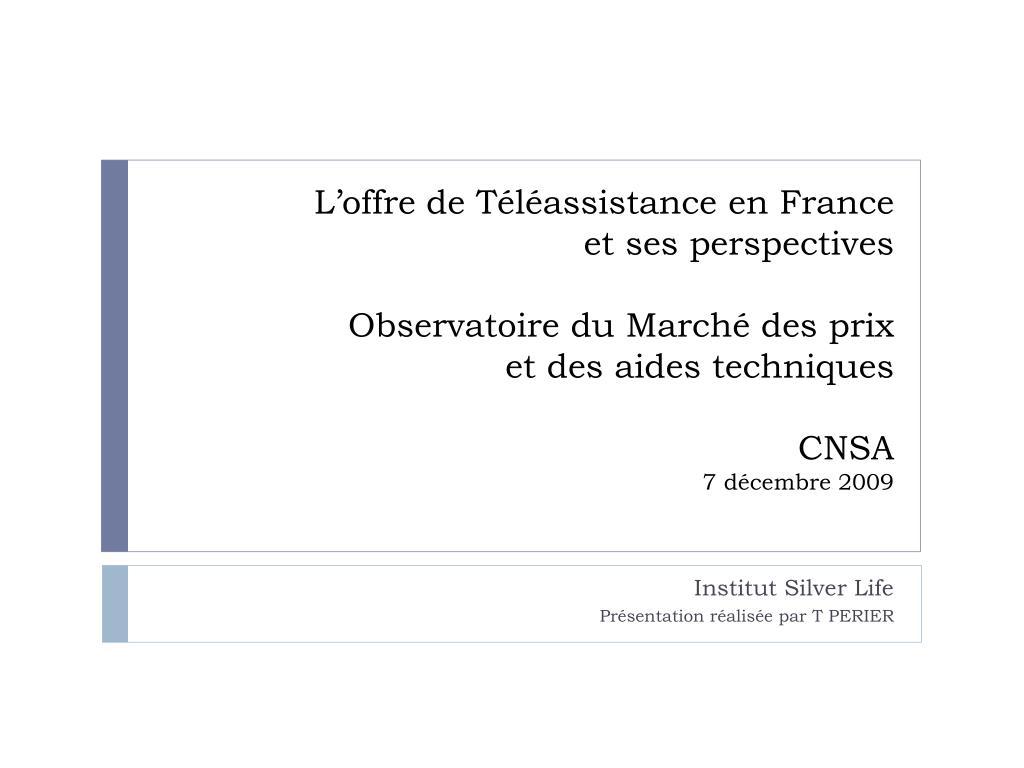 L'offre de Téléassistance en France