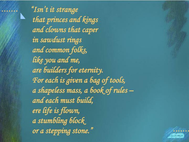 """Isn't it strange"