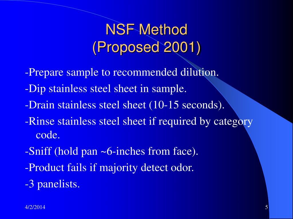 NSF Method