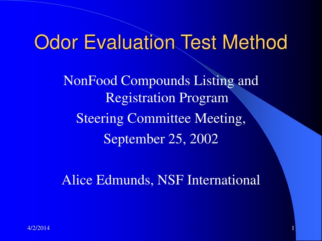 Odor Evaluation Test Method