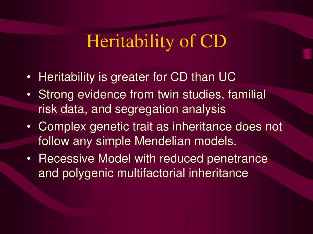 Heritability of CD