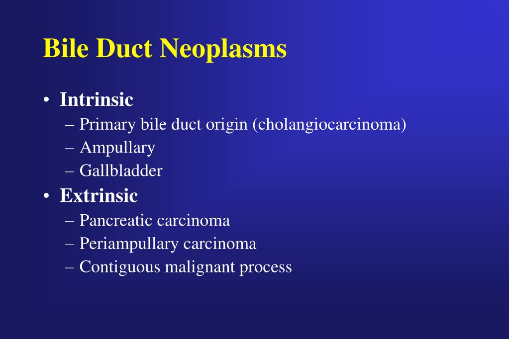 Bile Duct Neoplasms
