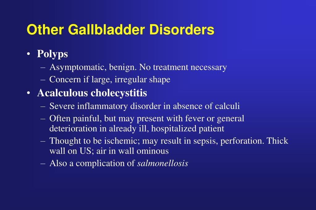 Other Gallbladder Disorders