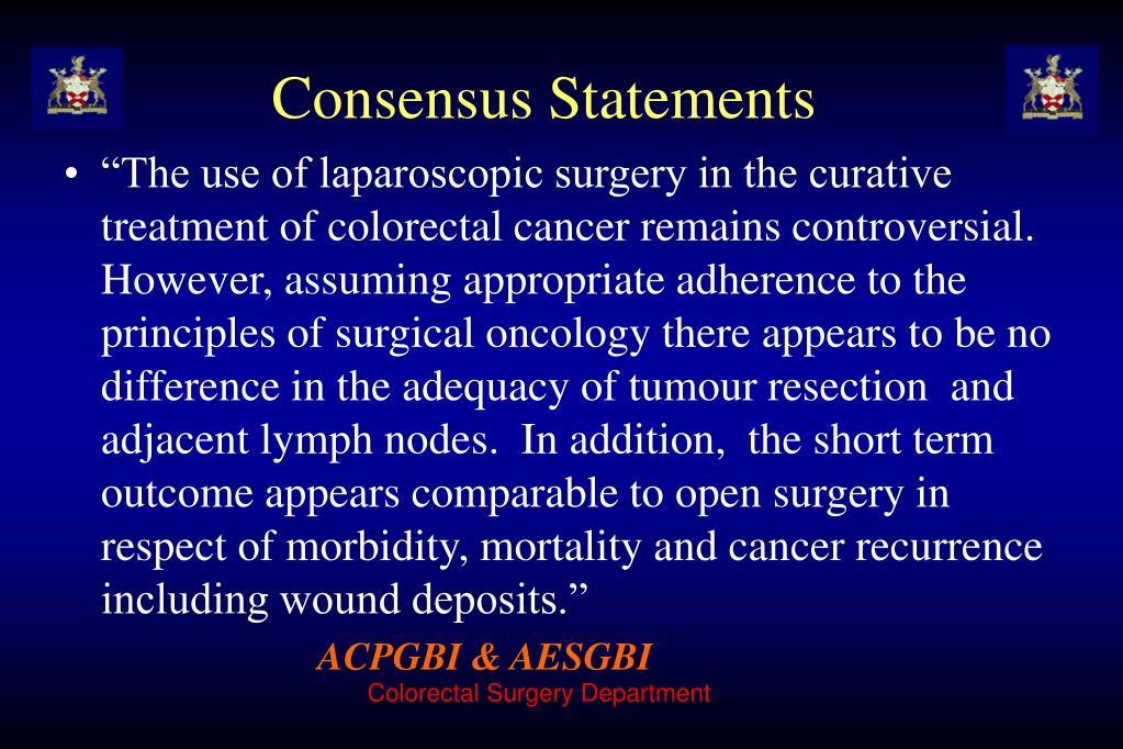 Consensus Statements