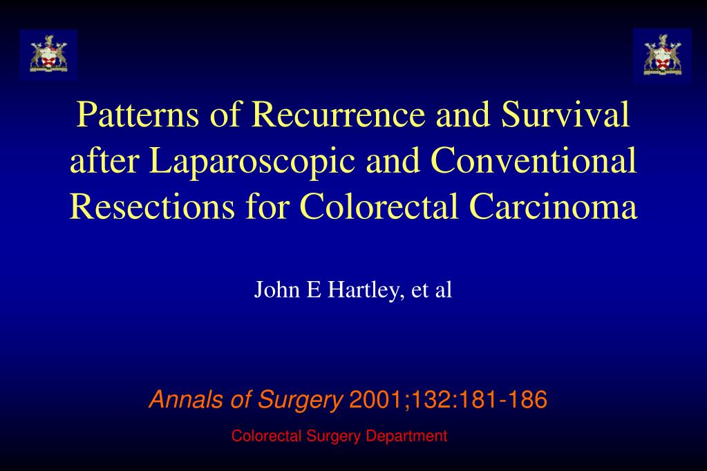 Patterns of Recurrence and Survival after Laparoscopic and Conventional Resections for Colorectal Carcinoma
