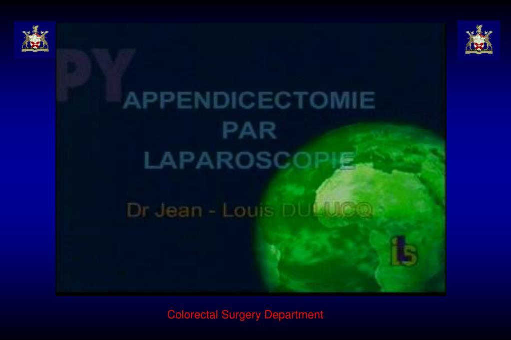 Colorectal Surgery Department