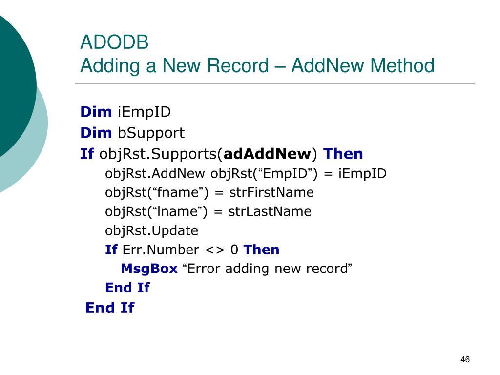 ADODB