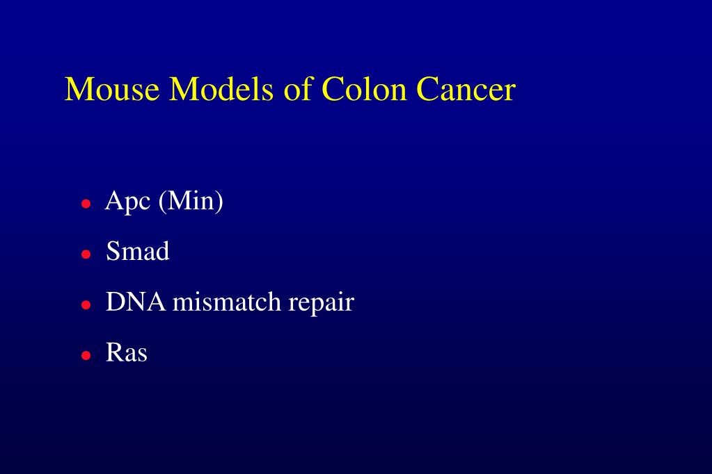 Mouse Models of Colon Cancer