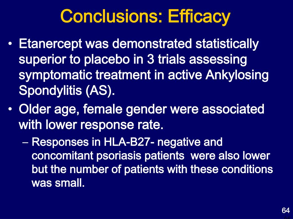 Conclusions: Efficacy