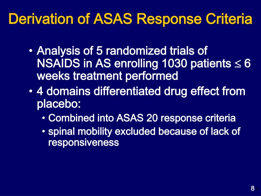 Derivation of ASAS Response Criteria