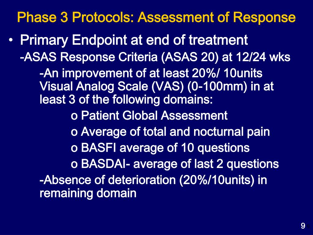 Phase 3 Protocols: Assessment of Response