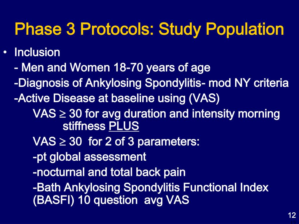 Phase 3 Protocols: Study Population