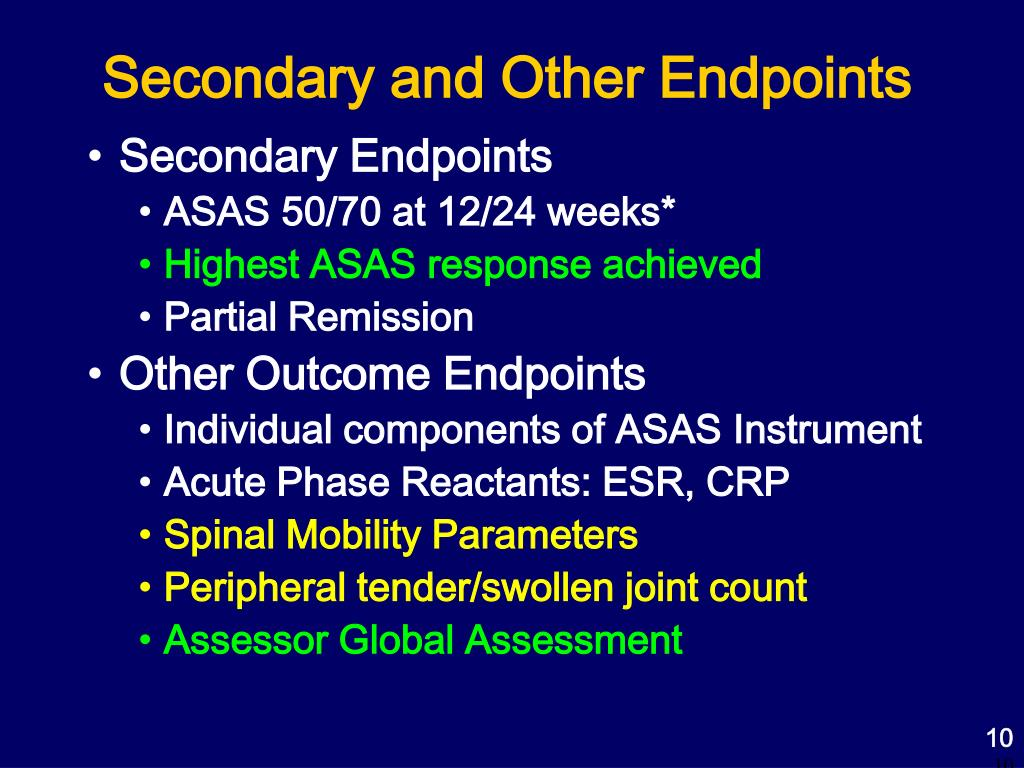 Secondary and Other Endpoints