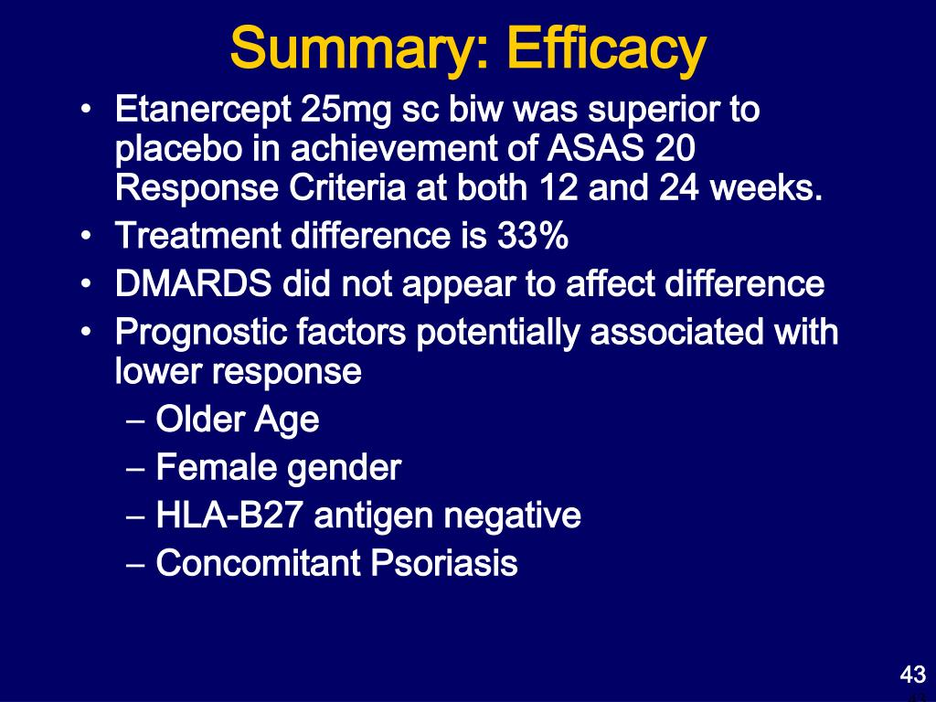 Summary: Efficacy