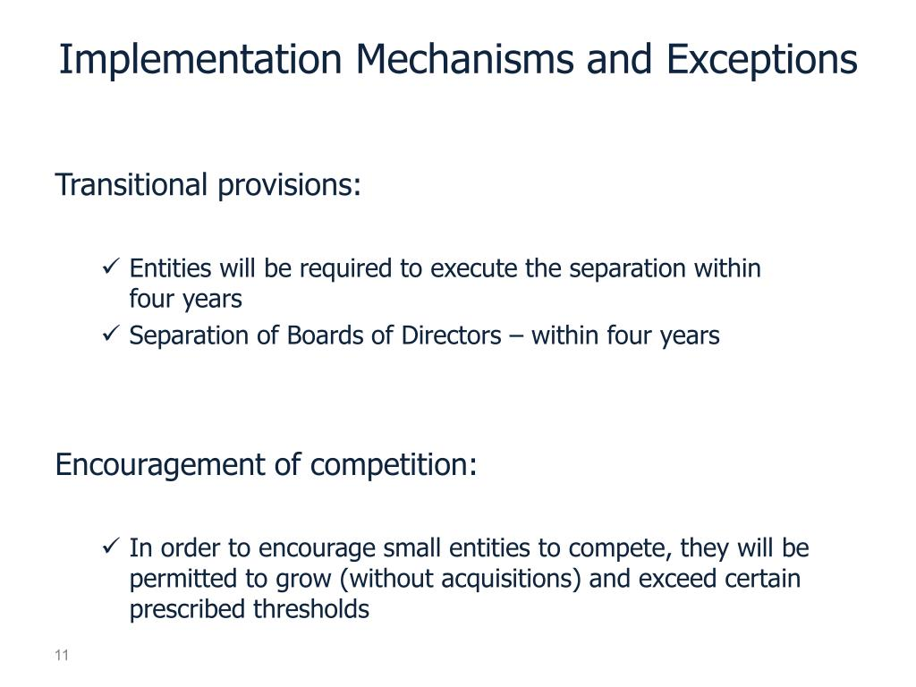 Implementation Mechanisms and Exceptions