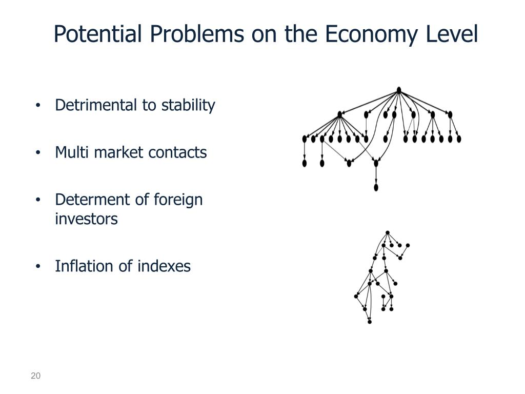 Potential Problems on the Economy Level