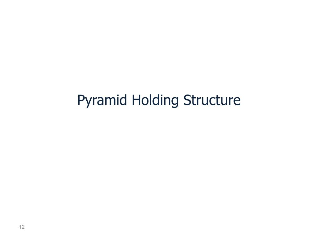 Pyramid Holding Structure