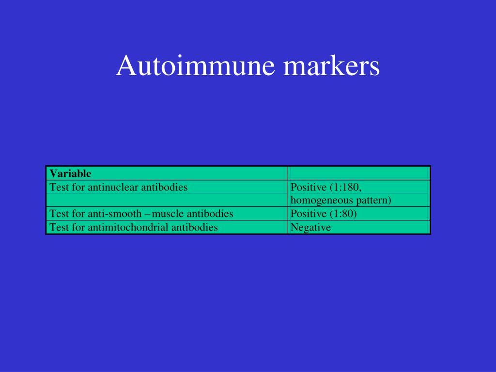 Autoimmune markers