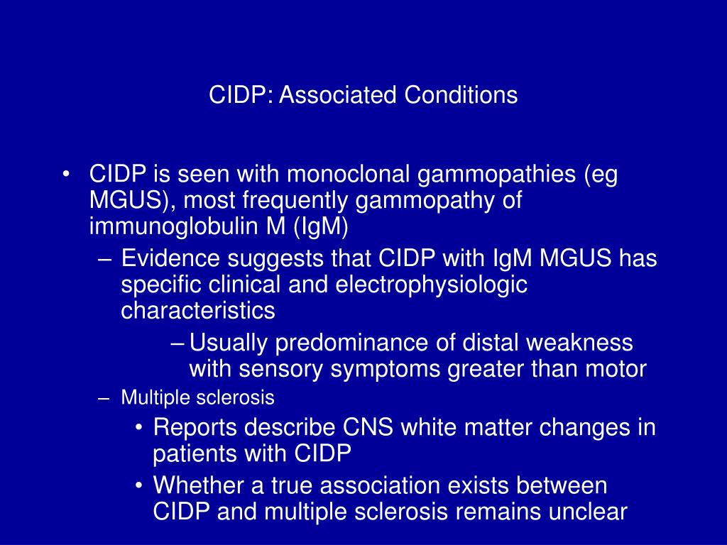 CIDP: Associated Conditions