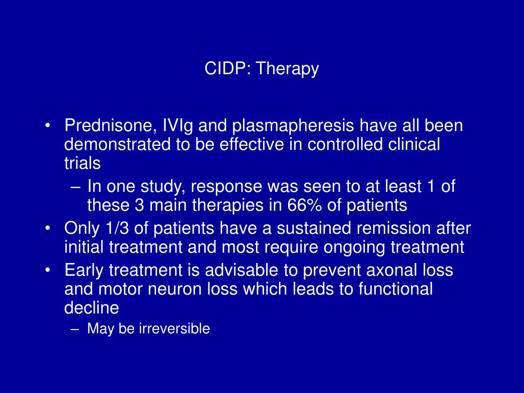 CIDP: Therapy