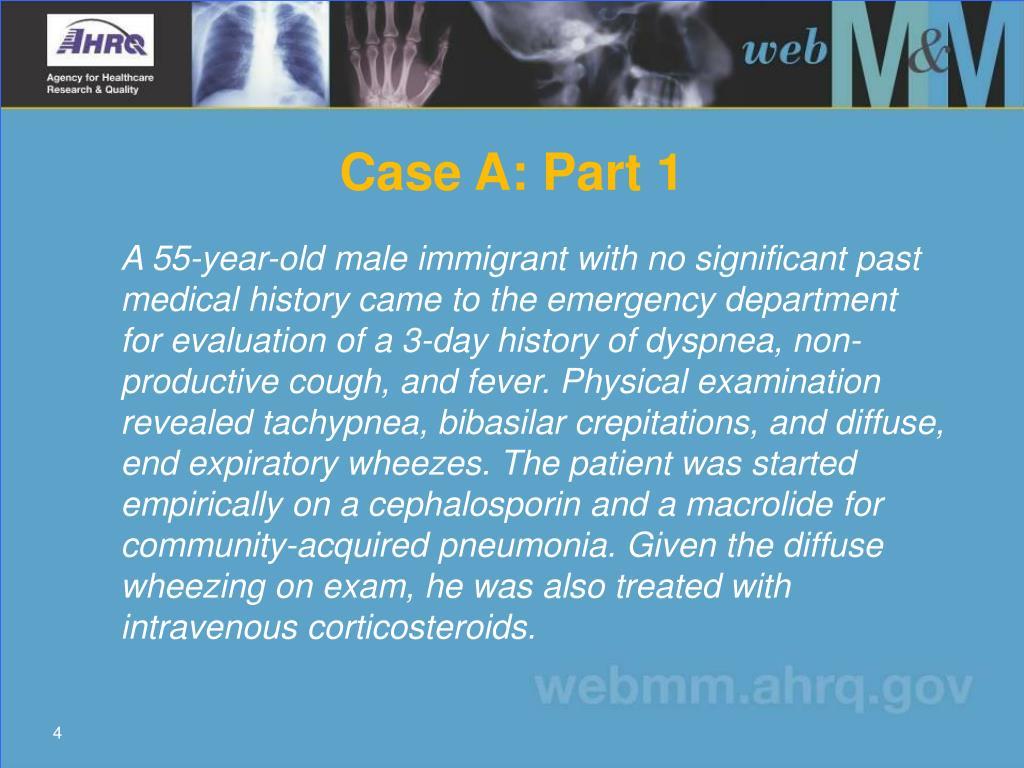 Case A: Part 1