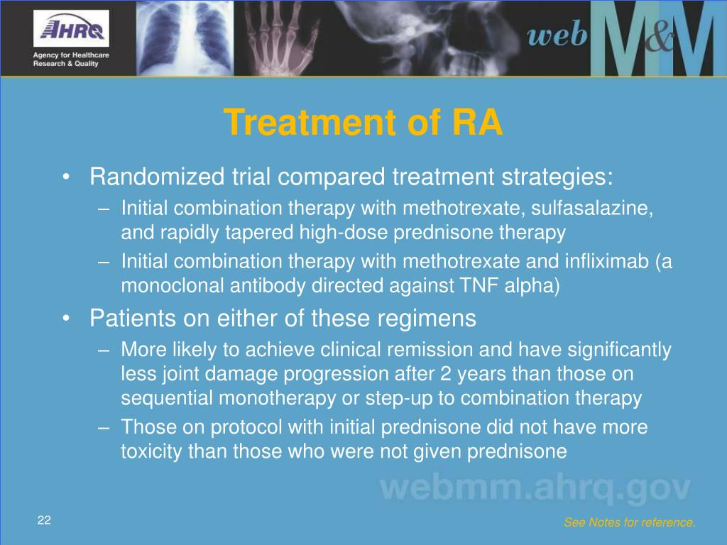Treatment of RA