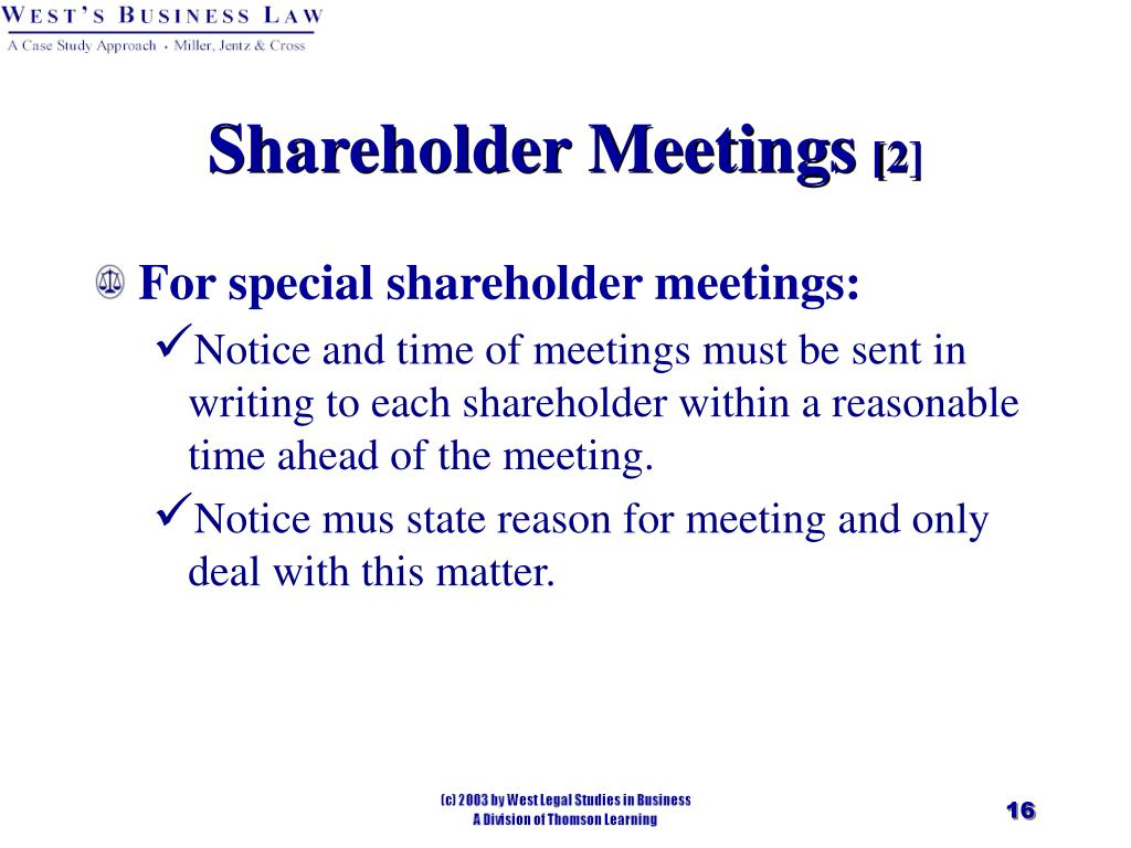 Shareholder Meetings