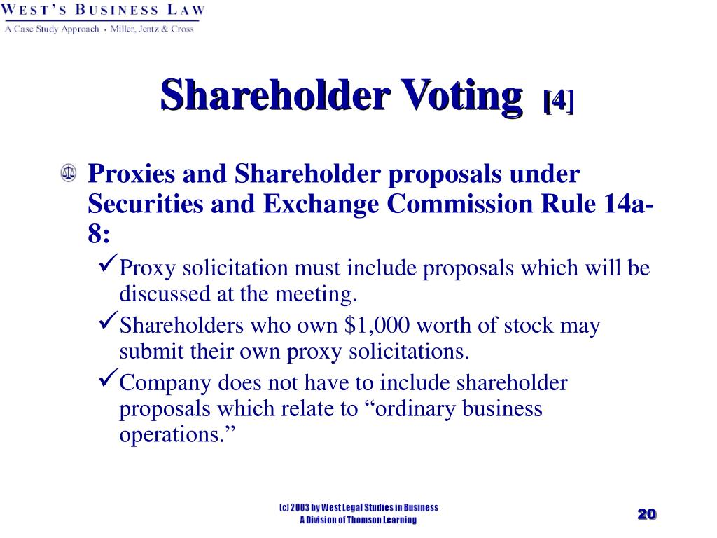 Shareholder Voting