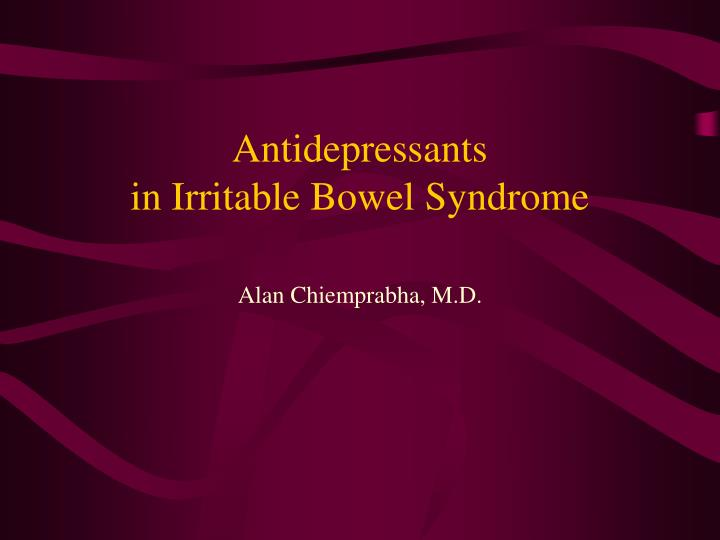 Antidepressants in irritable bowel syndrome
