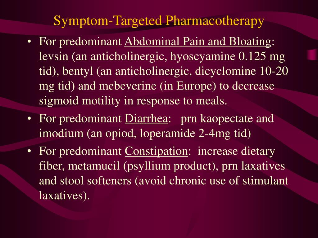Symptom-Targeted Pharmacotherapy
