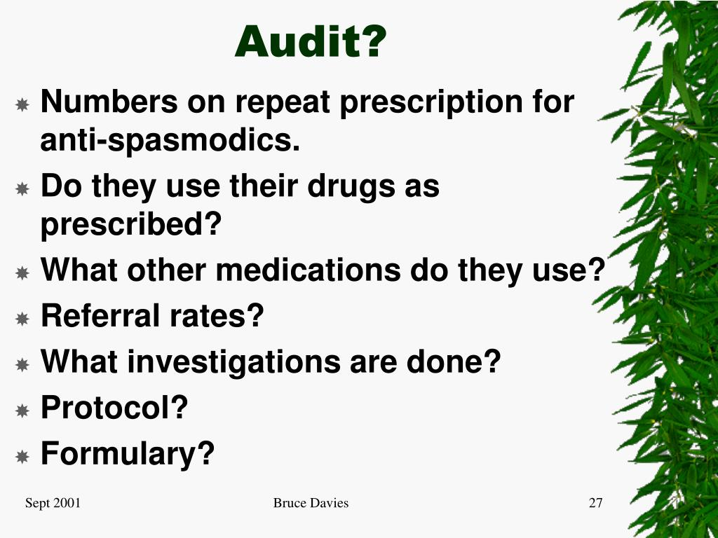 Audit?