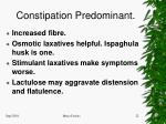 constipation predominant