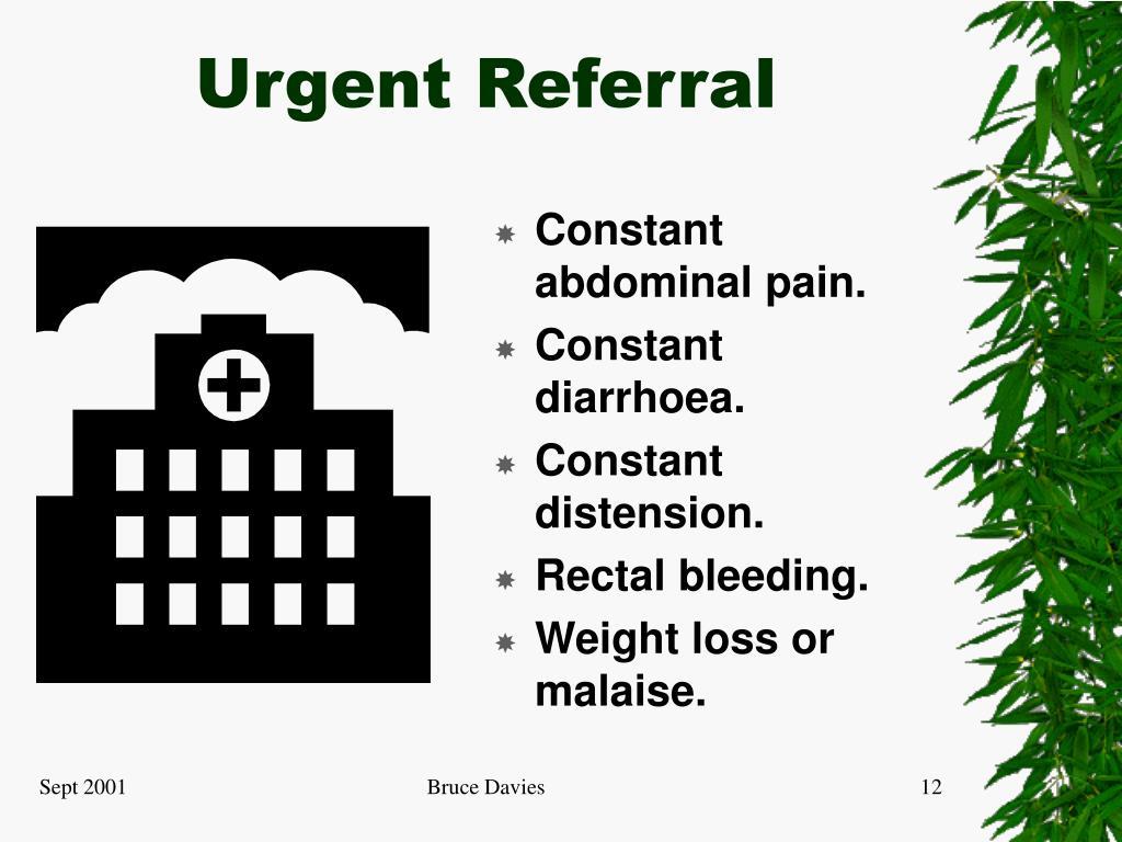 Urgent Referral
