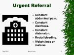 urgent referral