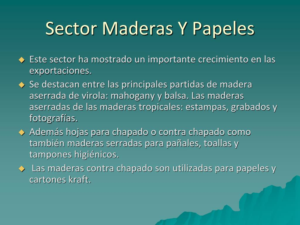 Sector Maderas Y Papeles