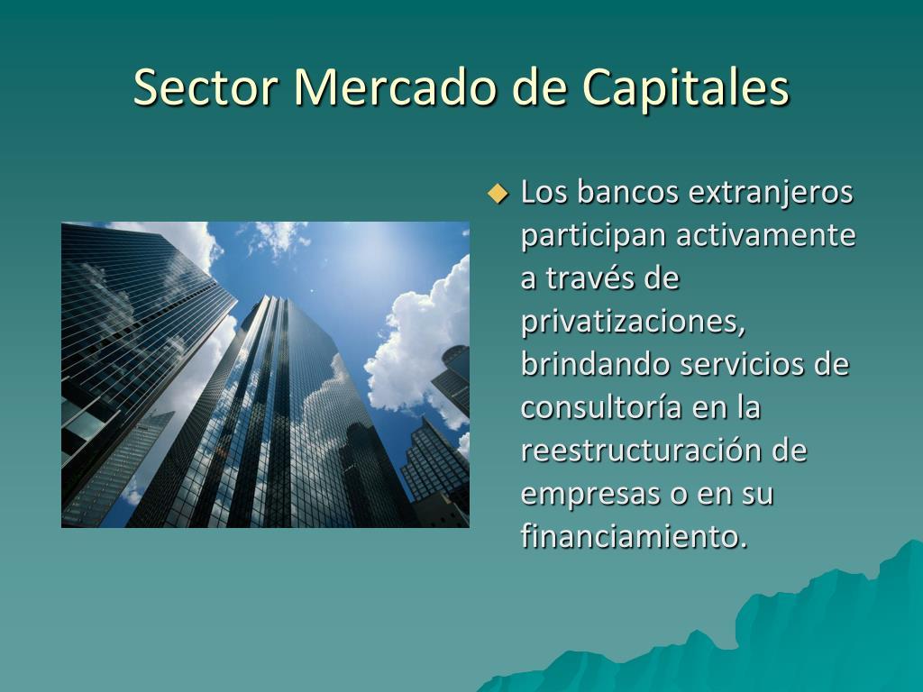 Sector Mercado de Capitales