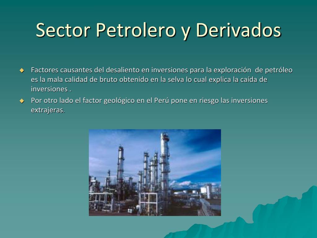 Sector Petrolero y Derivados
