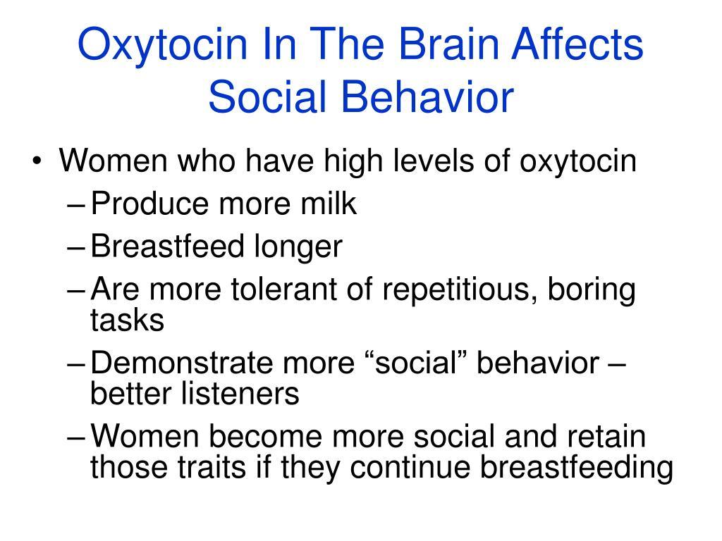 Oxytocin In The Brain Affects Social Behavior