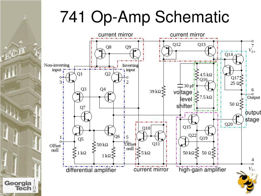 741 Op-Amp Schematic