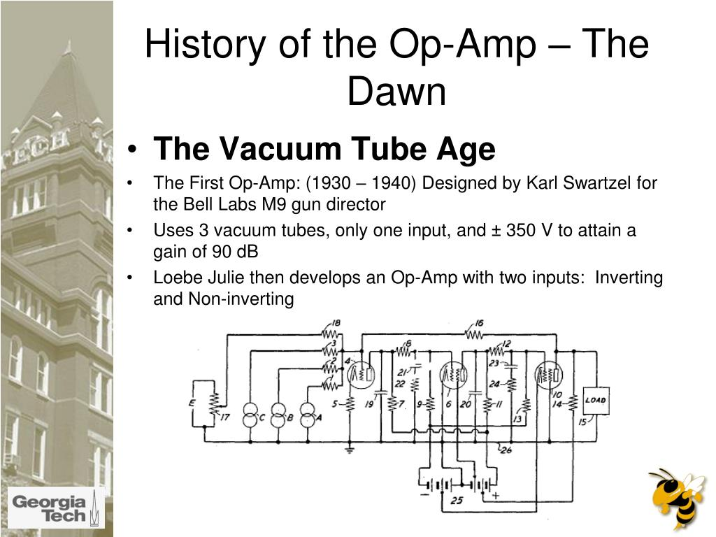 History of the Op-Amp – The Dawn